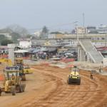 Construction de la passerelle marche de Marcory